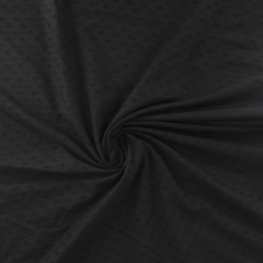 Broderie anglaise pétales - noir