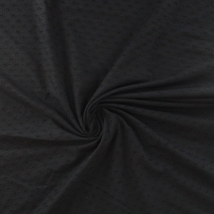 "1 m Noir Multi Couleur BRODERIE ANGLAISE Coton Pelouse robe tissu 58/"""