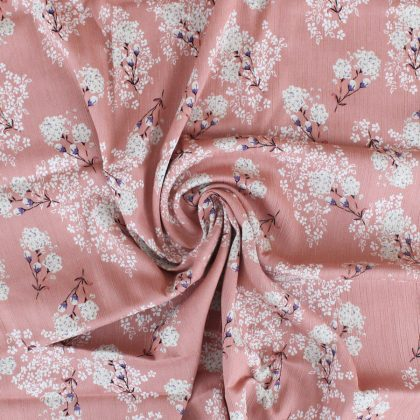 Crêpon de viscose lurex Bud - rose