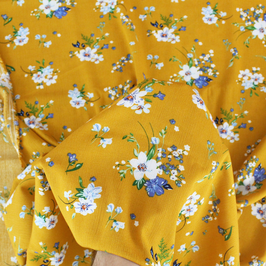 Tissu Crêpon de viscose Sakura - ocre