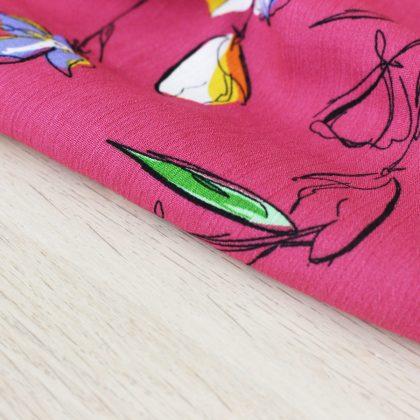 Crêpon de viscose Tulips - framboise