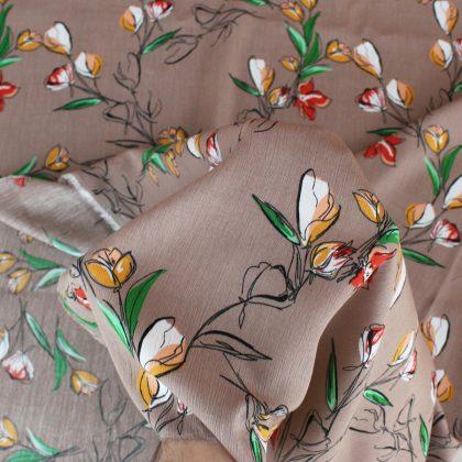 Crêpon de viscose Tulips - taupe
