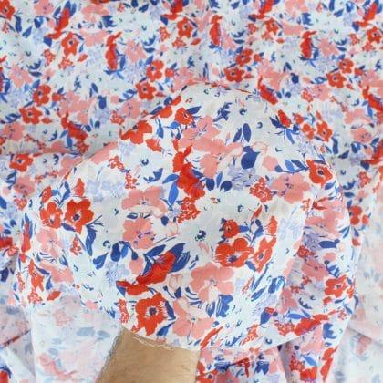 Tissu Voile de coton Fresh Flower