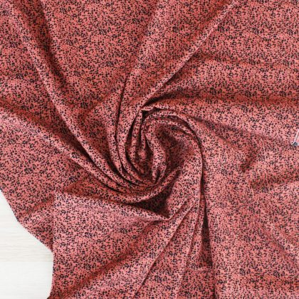 Viscose lurex - rose corail