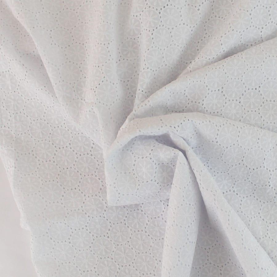 Broderie anglaise Sun - blanc