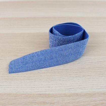 Elastique lurex 40 mm - bleu