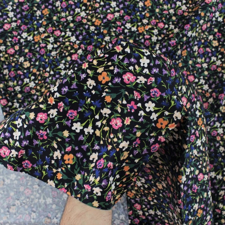 Satin de coton Bloom Rush