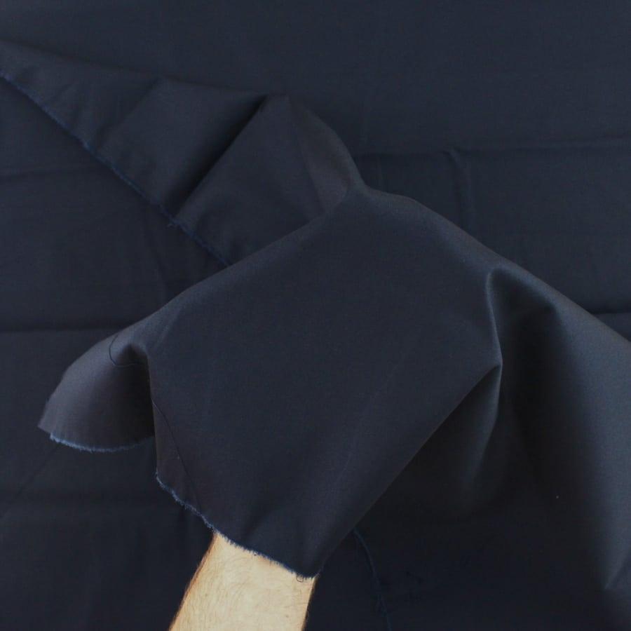Satin de coton - bleu marine