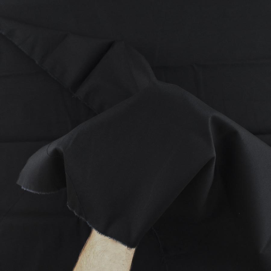 Satin de coton - noir
