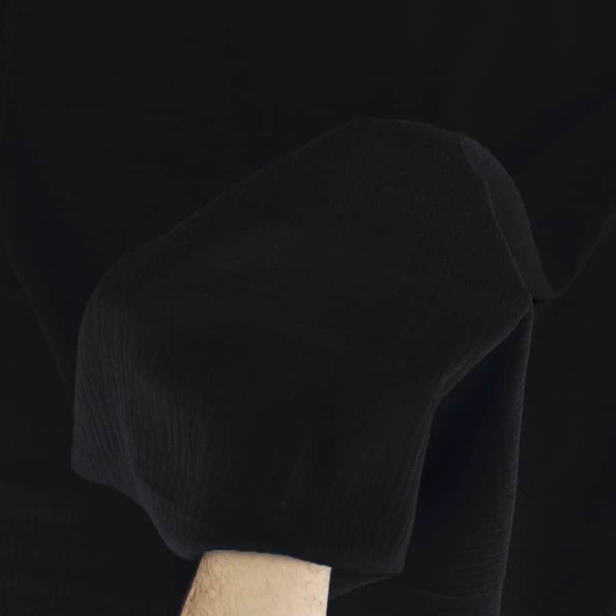 Tissu Double gaze - noir