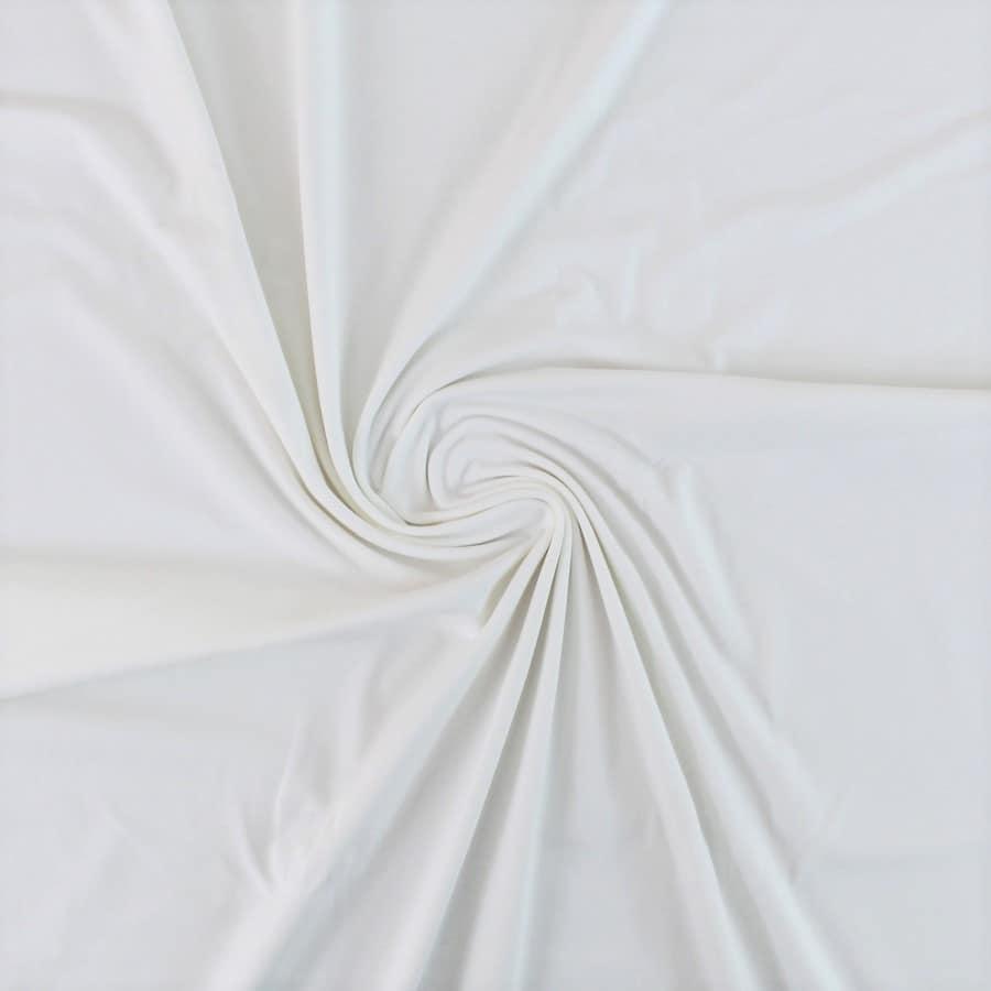 Tissu Jersey de coton bio - blanc