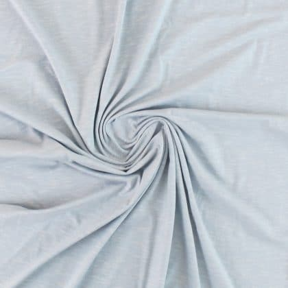 Jersey coton flammé - bleu clair