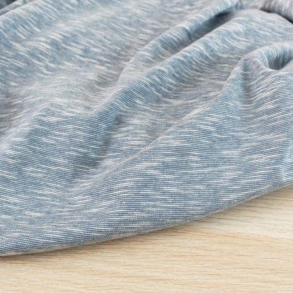 Jersey coton flammé - bleu acier