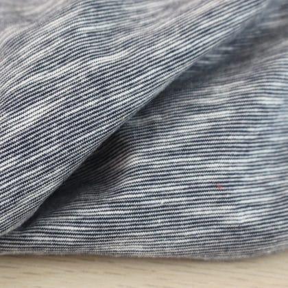 Jersey coton flammé - bleu marine