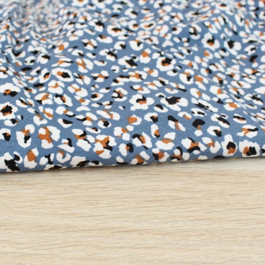 Jersey viscose Stains - bleu