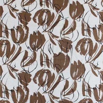 Crêpe de lin Cacao - marron