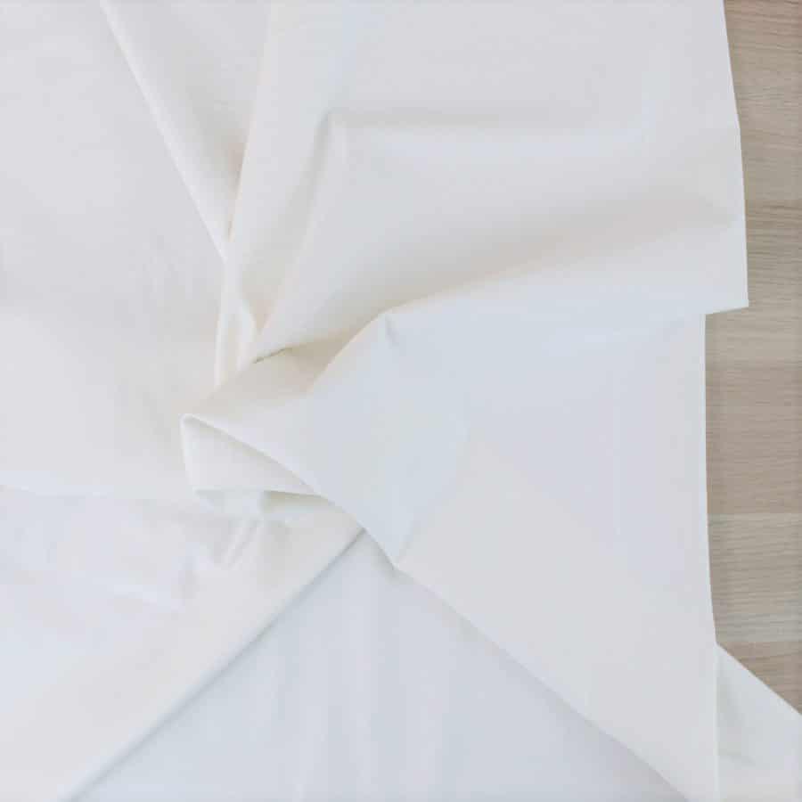 Satin de coton - blanc cassé