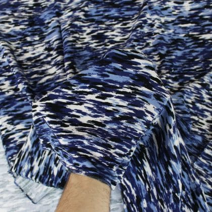 Viscose twill Brume - bleu