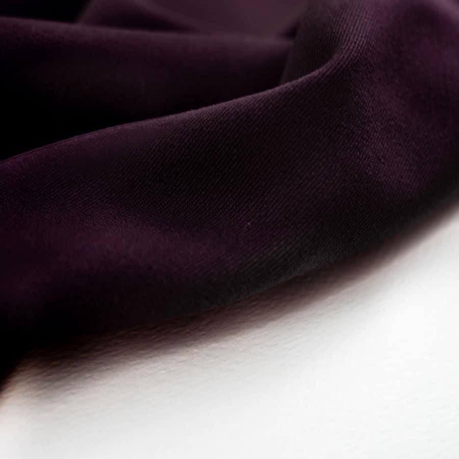 Tissu Gabardine stretch - aubergine